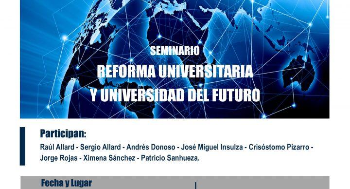 """Foro Valparaíso organiza seminario """"Reforma universitaria y universidad del futuro"""""""